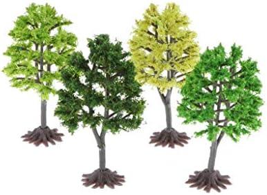 sharprepublic 模型 ツリー 樹 モデルツリー 樹木 木モデル 鉢植え用 建築模型 居間飾り グリーン 4本入り
