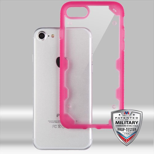 iPhone 7/8 Case, Mybat PC/TPU Rubber Case Cover for Apple iPhone 7/8, Clear/Hot Pink