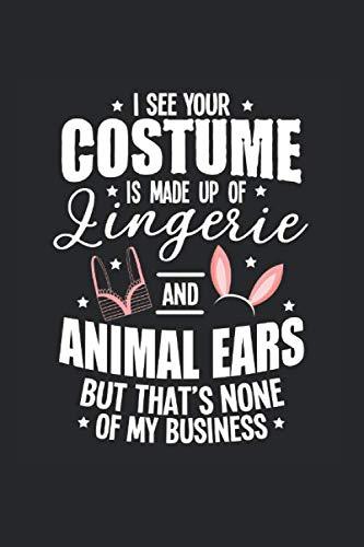 Sim Halloween Costumes (Carnet De Notes: Halloween Sexy Oreilles Costume Sous-Vêtements Cadeaux 120 Pages, 6X9 (Environ A5), Blanc / Croquis (French)