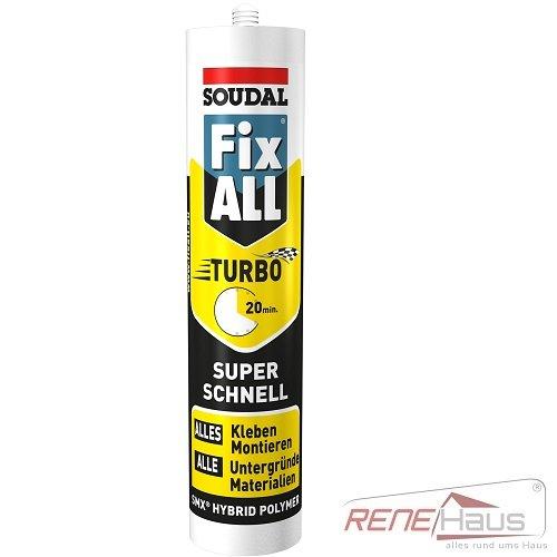 Soudal Fix All Turbo 430 g / Polymer Konstruktionsklebstoff / Schnell - Montagekleber