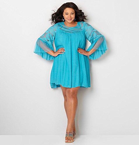 AVENUE-Womens-Crochet-Trapeze-Dress
