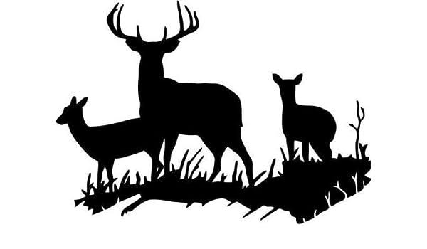 Deer Silhouette Animal for Car Window SUV Laptop Macbook Art Vinyl Decal Sticker