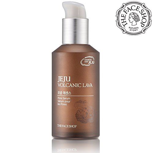 The Face Shop Jeju Volcanic Lava Pore Essence, Pore Treatment Serum (50mL/1.69 Oz) (Serum Sebum Control)