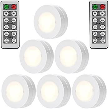 Amazon ecolight battery operated 35 inch led selectable timer solled wireless led puck lights with remote control battery powered dimmable kitchen under cabinet lighting mozeypictures Gallery