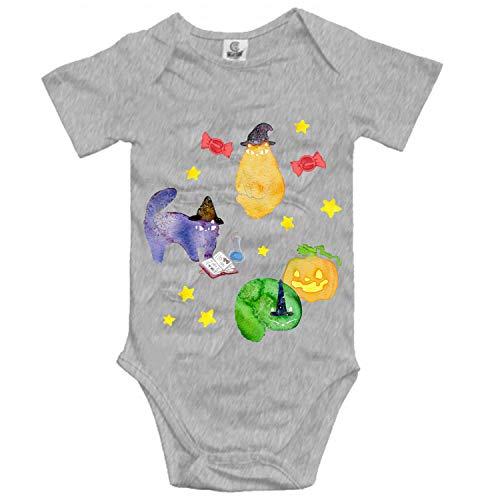 Halloween Cats Vignette Baby Infant Boys Girls Fun Print Bodysuit