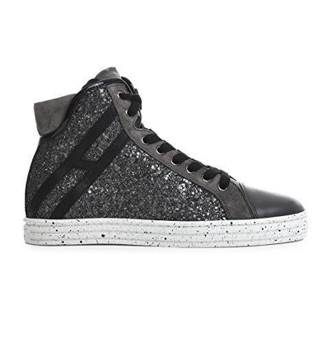 Glitter Nero HXW1820I651DYF0803 Sneakers Hogan Rebel Donna Top Hi nqW6UFv