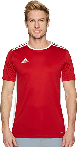 adidas Men's Soccer Entrada Jersey, Power Red/White, Medium (White T-shirt Soccer Sports)