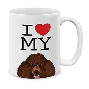 MUGBREW I Love My Brown Standard Poodle Ceramic Coffee Gift Mug Tea Cup, 11 OZ 5