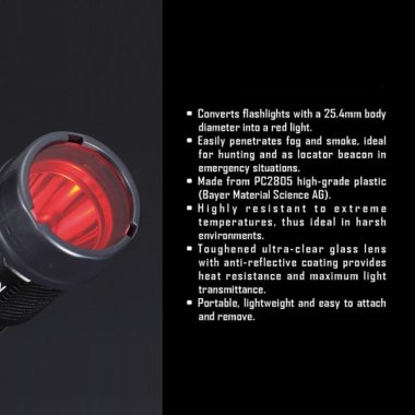 Nitecore NFR25 25.4mm Red Filter.