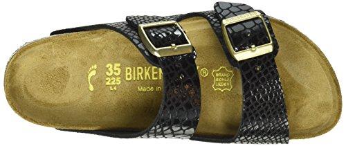 Birkenstock Arizona Shiny Snake Black - Sandalias Mujer Negro (Shiny Snake Black)