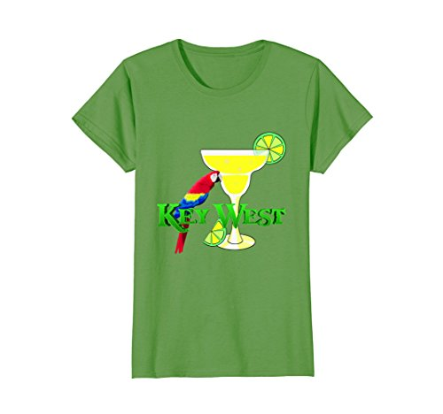 Womens Margarita in Key West Florida Beach Vacation T-Shirt Large Grass