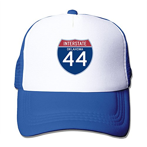 WZN Interstate 44 I-44 Highway Sign Oklahoma Polyester Foam Caps With RoyalBlue