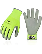 Vgo PU Coated Gardening and Work Gloves