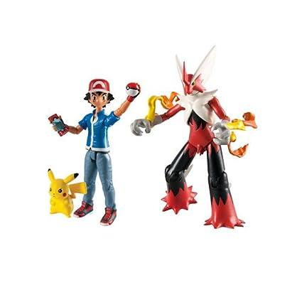 Pokemon 13604 Esche Pikachu Und Mega Blaziken Action Figuren