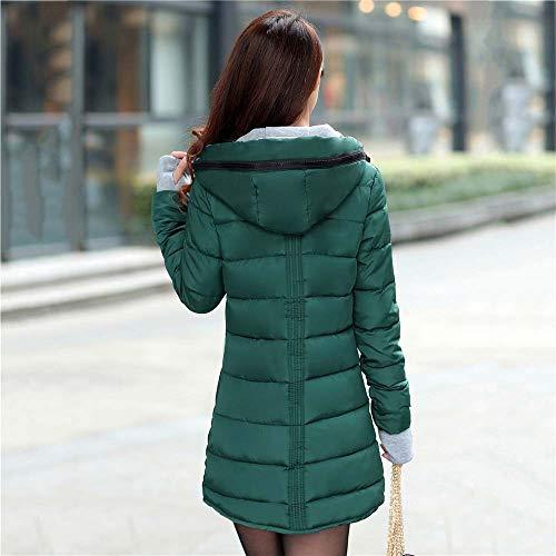 En Longues Morchan Poches Manteaux Coton Avec Femmes Pour À Capuchon Vert Manteau Manches Gants wqaSFB