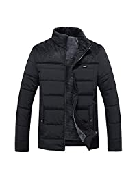 SWPS Men's Winter Jackets, Fashion Male Autumn Winter Casual Pocket Button Thermal Leather Jacket Top Coat