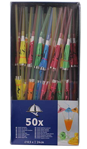 Kogler 22092 50 Pieces Parasol Flex Straws in Showbox, Plastic, Striped from Kogler