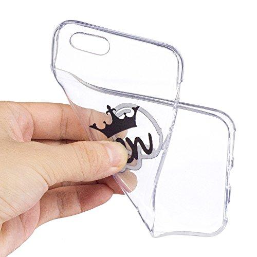 iPhone 6 Plus / 6S Plus Hülle Königin Krone Premium Handy Tasche Schutz Transparent Schale Für Apple iPhone 6 Plus / 6S Plus + Zwei Geschenk