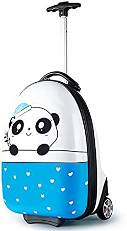 Ly-lgb Childrens Trolley Luggage Trolley case Universal Wheel Luggage cart New Cartoon Men and Women Childrens Bag Trolley Color : Red