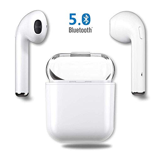 TWS-i8X Bluetooth Headsets Wireless Earphones Sport Earbuds Mini In-Ear Headphones Built-in Mic Anti-Sweat & Waterproof Earbuds For iPhone MAX/X/8/7/6/6s Plus Samsung S9 Plus S8 & Android Phones-White