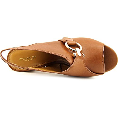 COACH Womens Sherry Peep Toe Sling Back Dress Sandals Saddle saNvAvy2