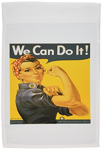 - 3dRose fl_149446_1 Vintage We Can Do it War Production Committee Poster Garden Flag, 12 by 18-Inch