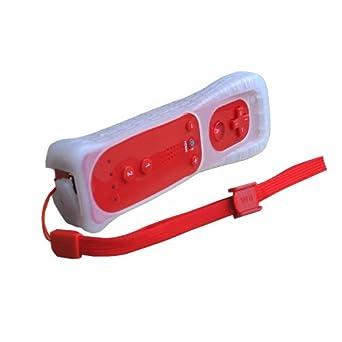 OSTENT Sensor de movimiento Bluetooth Control remoto inalámbrico Compatible para consola Nintendo Wii Juego Color Rojo