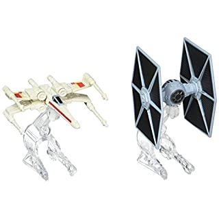 Hot Wheels Star Wars Starship TIE Fighter vs. X-Wing Vehicle 2-Pack