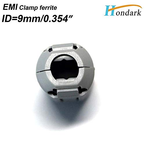 Maslin Inner 9mm 0.35''Grey Cable Wires Clip EMI Filter ferrite Bead 2035-0930 Noise Cancel ferrite Ring RF Choke ferrite,400pcs/lot