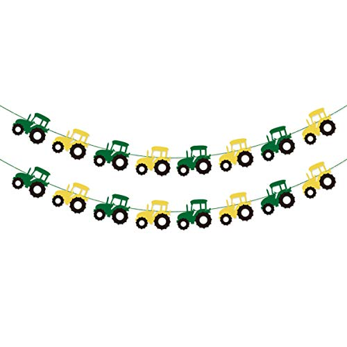 Tractor Garland Banner for Tractor/Farm / John Deere Themed Birthday Party Supplies Decorations (John Deer Birthday)