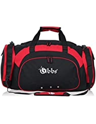 GIBBS Gear Heavy Duty Square Duffel Duffle Travel Lightweight Polyester Bag with Shoulder Strap Zipped Shoe Compartment...