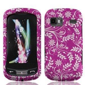 LF 3 in 1 bundle Accessory - Design Hard Case Cover, Lf Stylus Pen & Wiper For LG Rumor Reflex LN272 (Purple Flower) (Lg Rumor Reflex Cover compare prices)