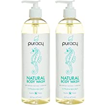 Puracy Natural Body Wash, Sulfate-Free Bath and Shower Gel, Citrus & Sea Salt, 16 Ounce, (Pack of 2)