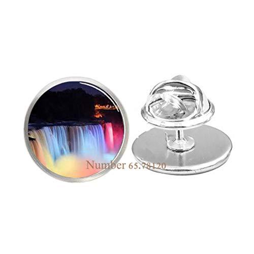 Niagara Falls at Night Pin,Photo Brooch,Wedding Jewelry Glass Jewelry,Christmas Gift,BV143 (V1) ()