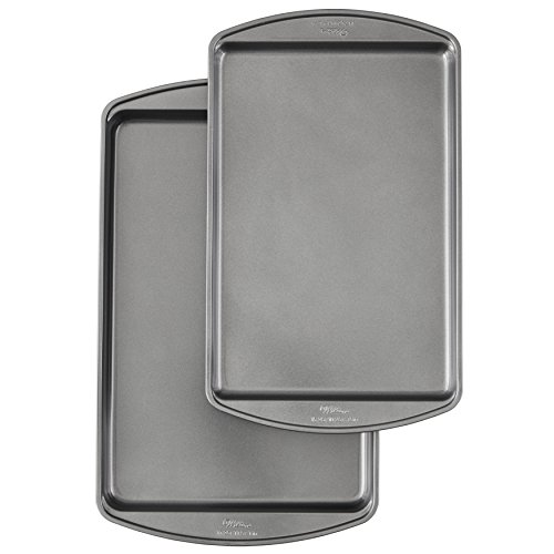 Non Stick Medium Cookie - Wilton Perfect Results Premium Non-Stick Bakeware Cookie Baking Sheets Set, 2-Piece