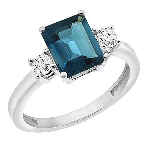 14k Octagon Gemstone Ring - 6