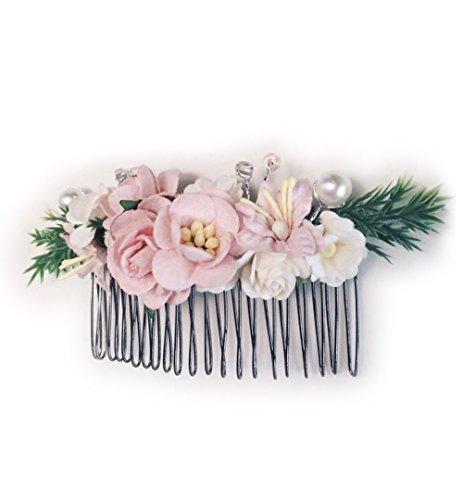 Price comparison product image Siam2u Floral hair Bridal comb, headpiece, bridesmaids, hair flower, Hair Accessories