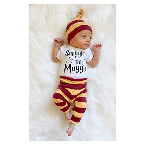 16332790d Mefarla Snuggle this Muggle Baby Boys Girls Romper Pants Hat Outfit Set  Clothes: Amazon.ca: Clothing & Accessories