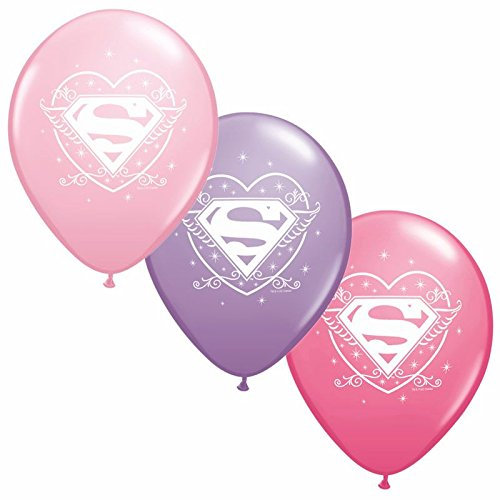 Super Girl Latex Balloons (6ct) (Supergirl Halloween)