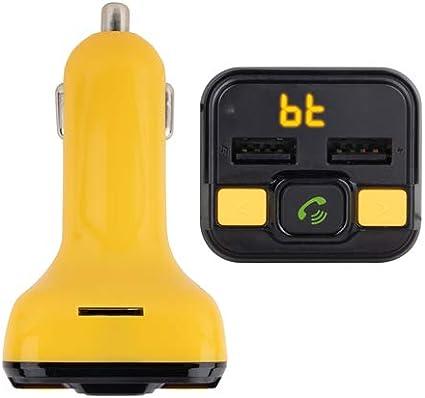 NGS Spark BT Curry - Transmisor FM Compatible con Tecnología Bluetooth para Coche/camión (12-24V, USB/MicroSD/MP3). Color Amarillo