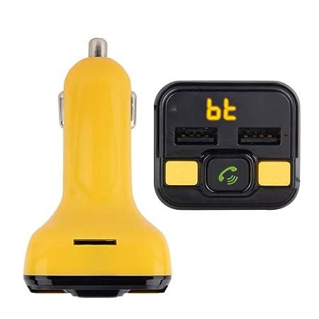 NGS Spark BT Curry 12-24V, USB//MicroSD//MP3 Color Amarillo Transmisor FM Compatible con Tecnolog/ía Bluetooth para Coche//cami/ón