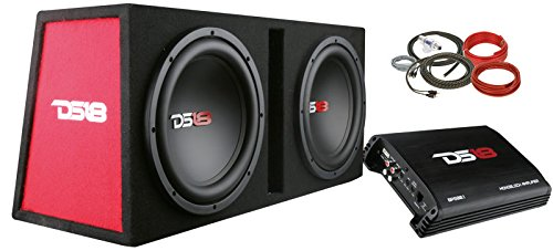 10' 600w Car Subwoofer (DS18 BP212 1300W Complete Bass Package with Two 12