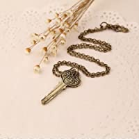 Ransopakul Anime Detective Sherlock Holmes The Key to 221B Silver Chain Vintage Necklace