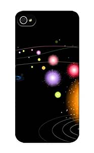 Awesome Case Cover/iphone 5/5s Defender Case Cover(abstract Circles Artistic Abstract Color Circle) Gift For Christmas