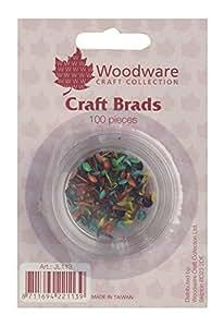Paquete de 100mini–redondo de encuadernadores–colores primarios, reutilizable, apilable recipiente, Woodware Craft Collection