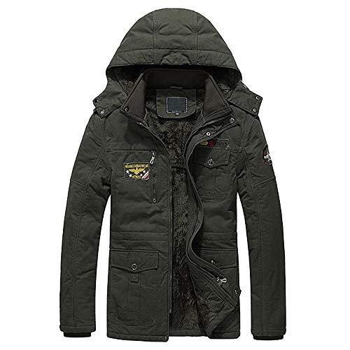 iLXHD Warm Jacket Men's Overcoat Outwear Long Trench Fleece Winter Wind Coat
