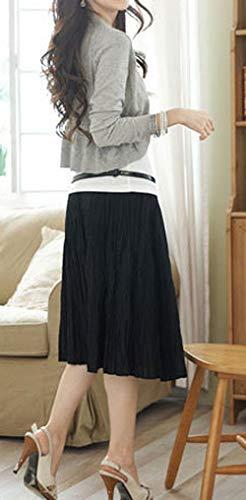Cardigan Gris Primavera Abrigo Chaqueta De Otoño Punto Blusa Cárdigans Larga Casual Ropa Toreras Bolero Tops Mujer Camisas Moda Manga Corto Outerwear Rebecas rvfqarw1