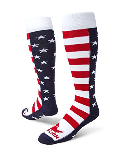 Red Lion Brave Patriotic Knee High American Made Socks (Navy Blue/White/Red - - Red Lion Kids Socks