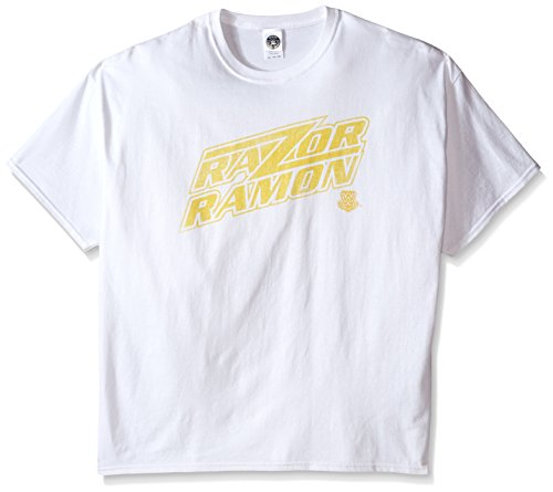 WWE Men's Big-Tall Razor Ramon T-Shirt, White, XXX-Large
