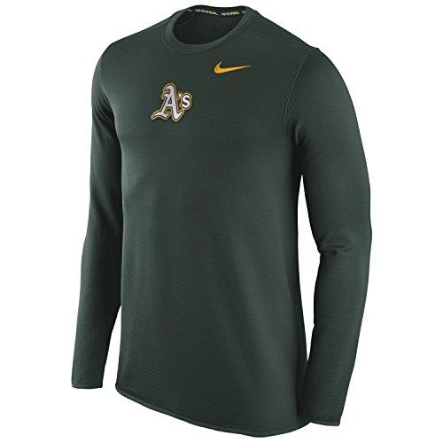 Nike Oakland A's MLB Waffle Crew Sweatshirt (XX-Large)